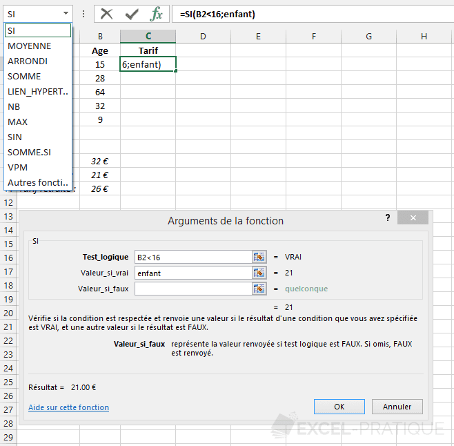 fonction-excel-si-imbrication - si imbriques
