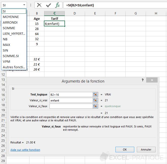 Fonction Excel Si Imbriques