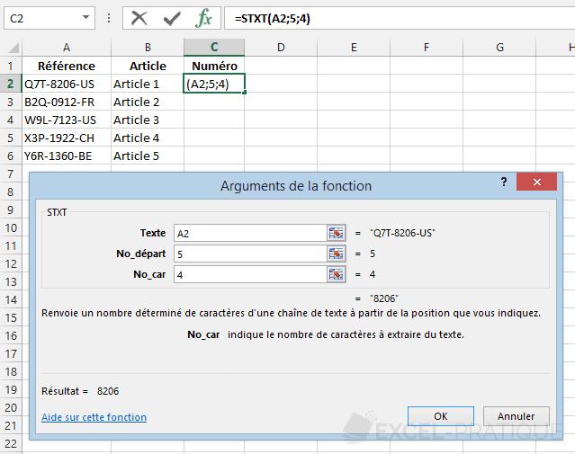 fonction-excel-stxt-recuperer-numero - stxt