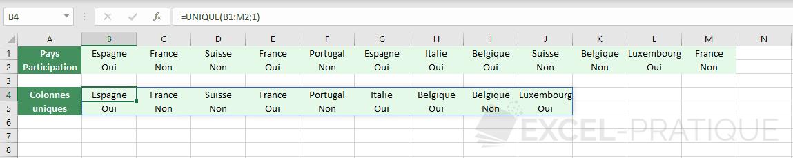 excel fonction unique colonnes tableau png