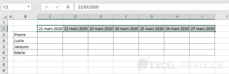 excel format dates