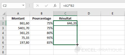 excel formule recopie formules