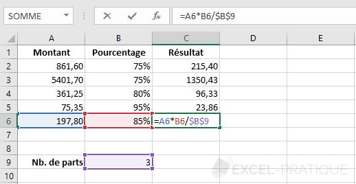 excel formule recopiee dollar formules