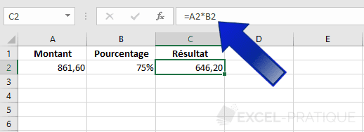 excel formule references cellules formules