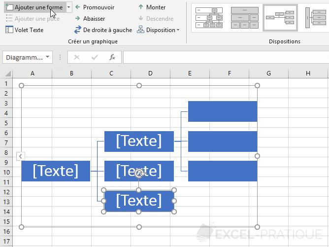 excel graphique smartart ajouter formes 2