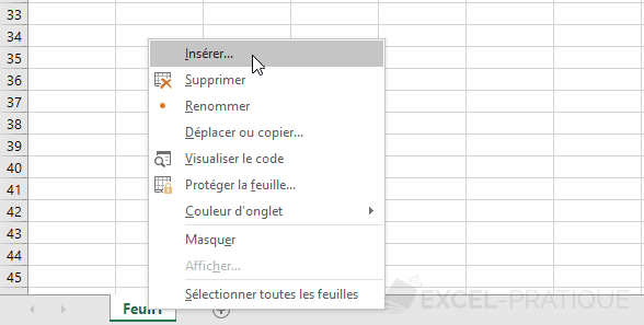 excel ajouter feuille manipulations 5