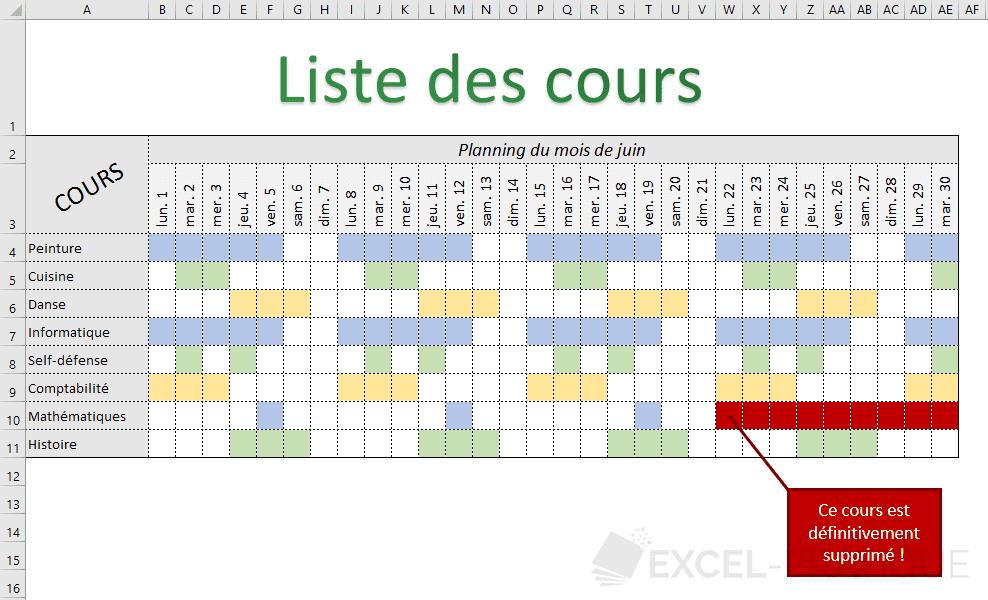 excel tableau planning exercice png recopie