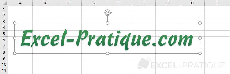 excel wordart pratique vert texte