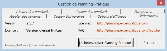 activer faq planning