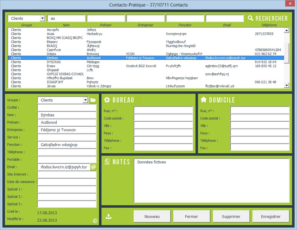 contacts excel png gestion