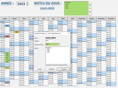 calendrier excel logiciels