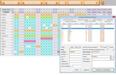 planning excel logiciels
