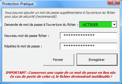 mdp fichier protection pratique