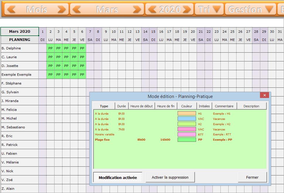 planning-excel-planification - tutoriel planning