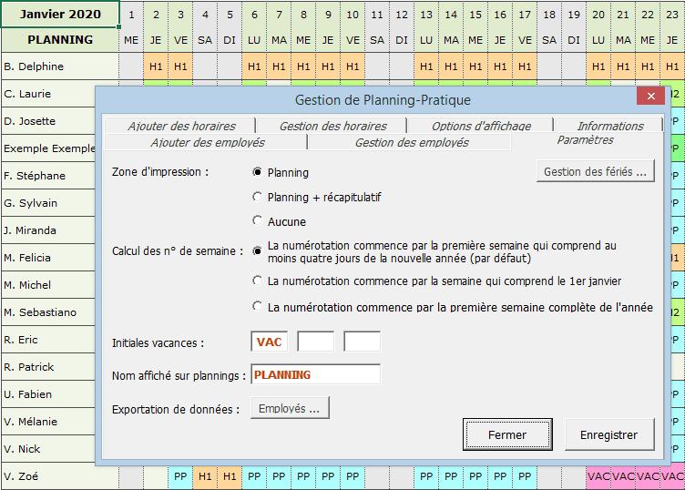 planning-excel-parametres - tutoriel planning suite