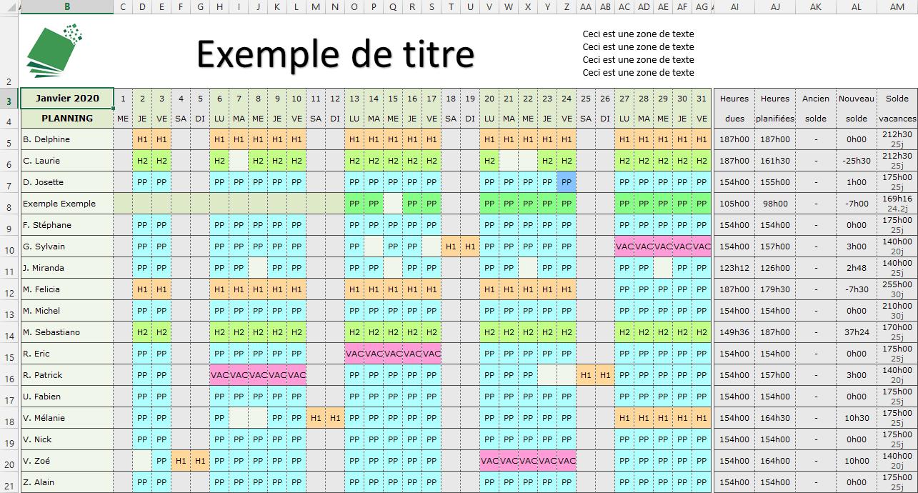 planning-mensuel-excel - tutoriel planning suite