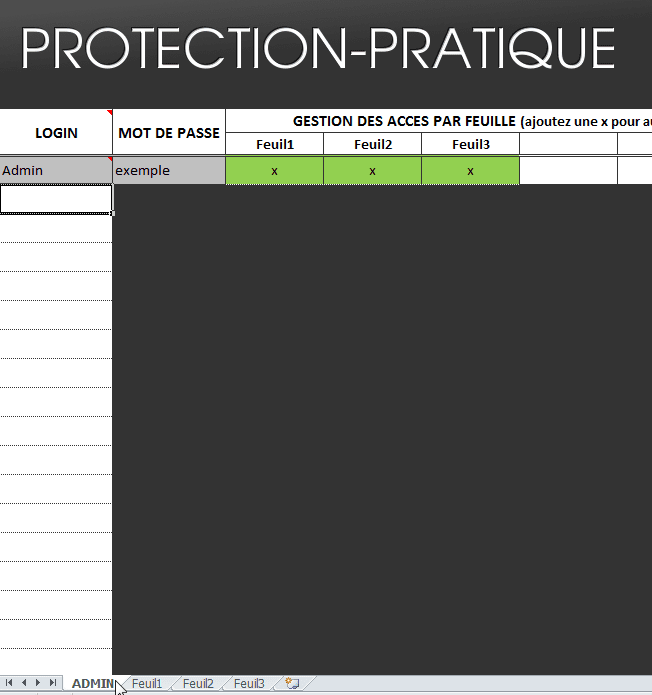admin - tutoriel protection