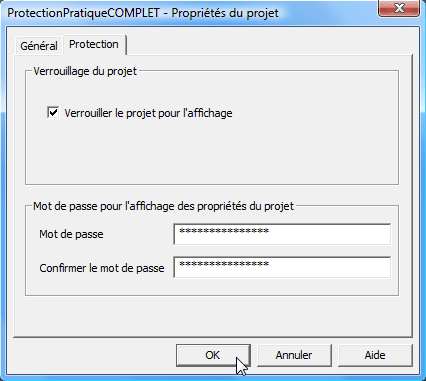 vba3 tutoriel protection