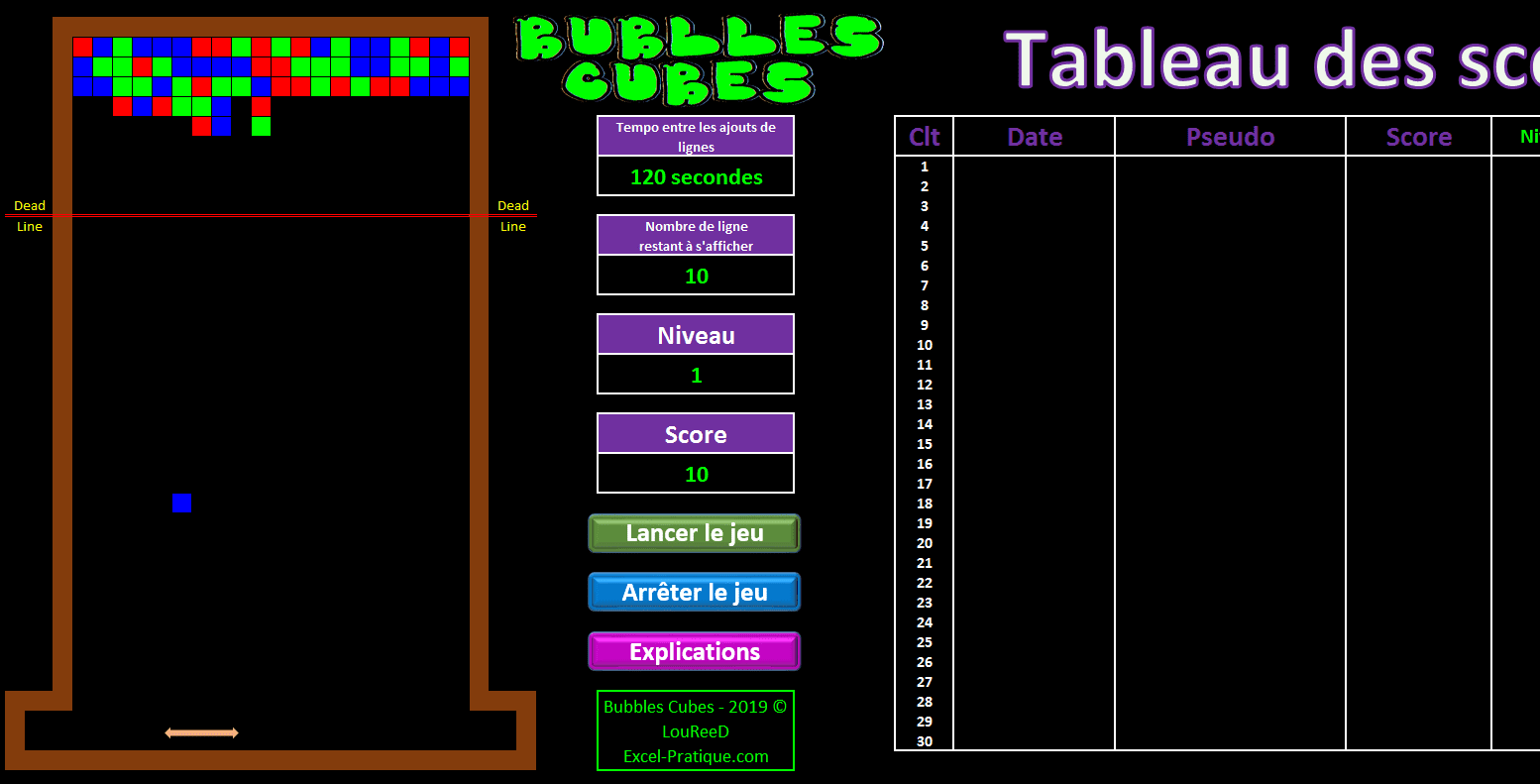 excel bubble cubes