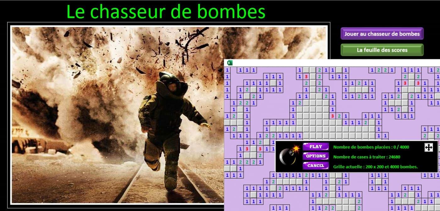 excel le chasseur de bombes demineur