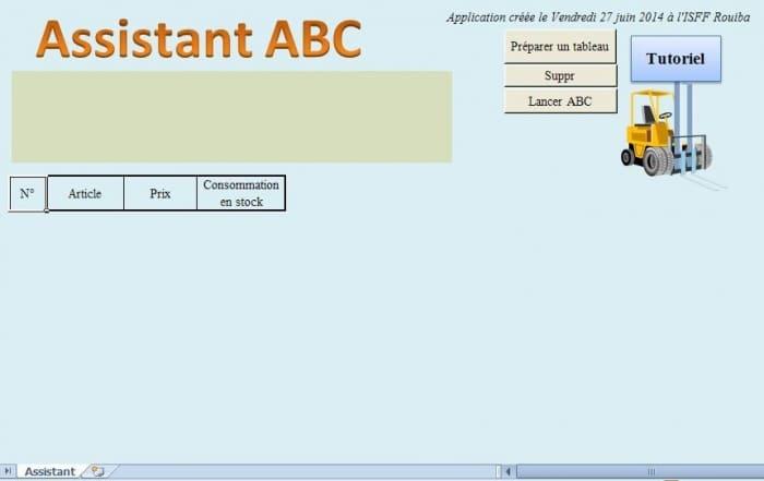 assistant de classification abc