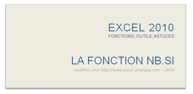 cours excel fonction nb.si excel