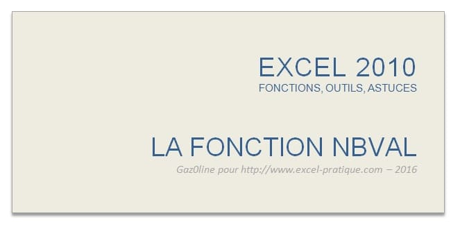 cours excel fonction nbval excel