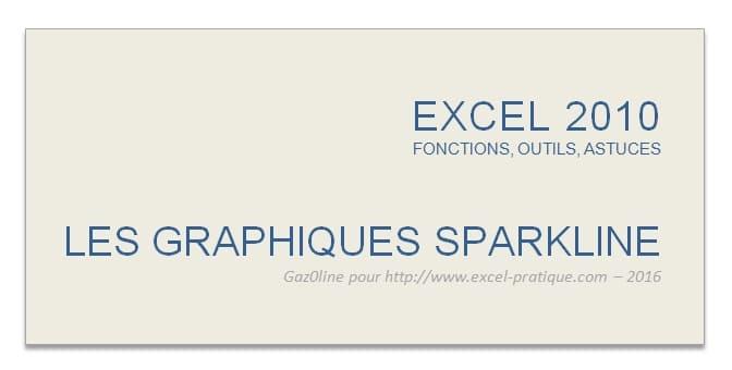 cours excel graphiques sparkline