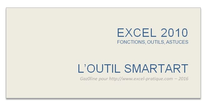 cours excel outil smartart