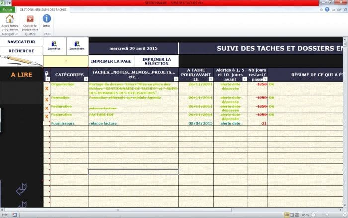 applications excel  u0026quot outils de gestion divers u0026quot