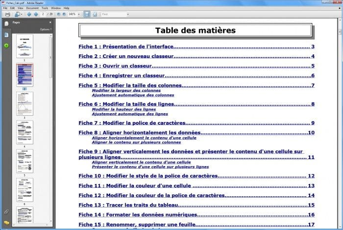 Cours Openoffice Libreoffice A Telecharger