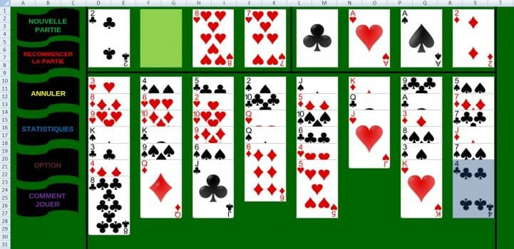 freecell excel