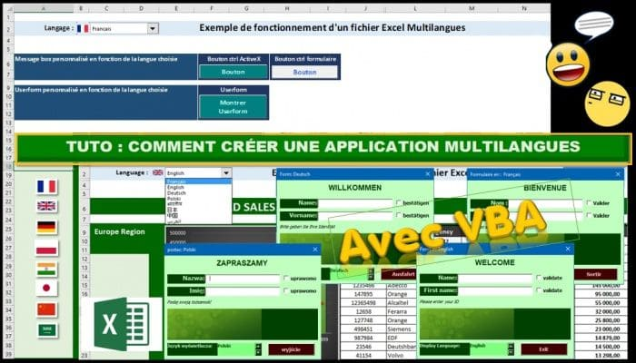 tuto comment creer une application multilangues avec vba excel