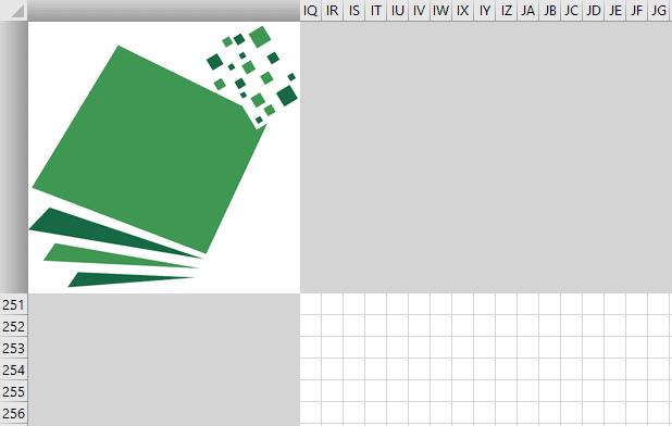 pixel excel logo mosaique