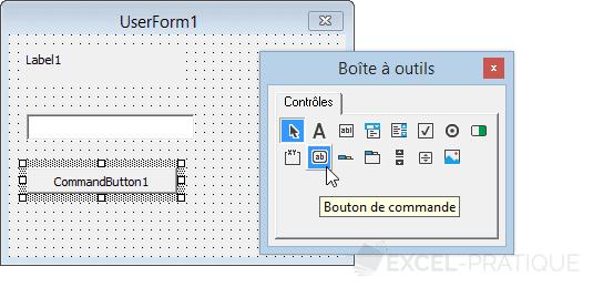 vba inserer commandbutton controles