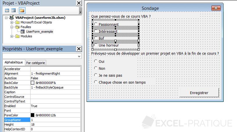 vba userform boutons option groupes controles suite
