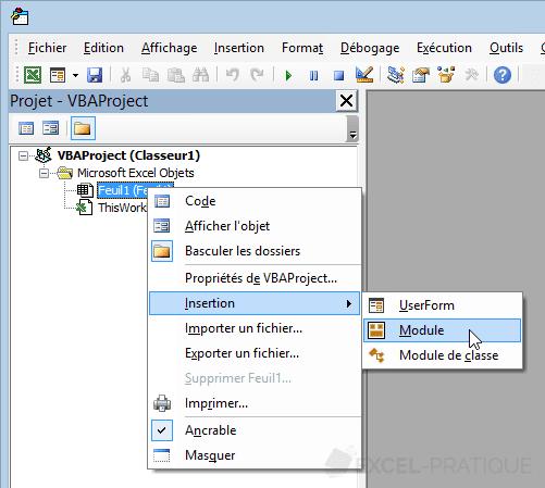 module selections